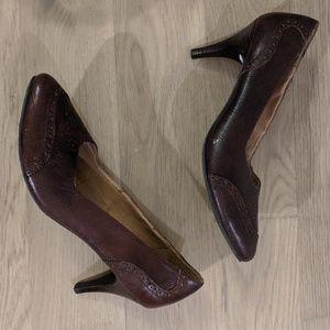 Brown kitten heels from Anthropologie - size 9